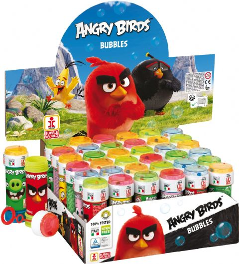 36 x Angry Birds - Puzzle Maze Tub Bubbles 60ml Wholesale Bulk Buy